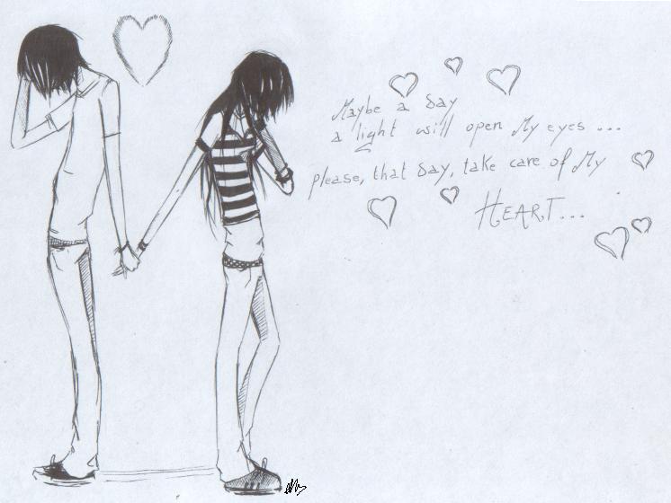 Romantic emo love by vangelia on deviantart for Love stuff to draw