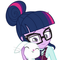 Sci-Twi and Angel Bunny by mlpcompilation