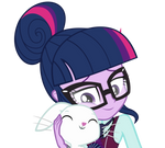 Sci-Twi and Angel Bunny