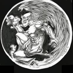 el dios viejo by mejiasculptor