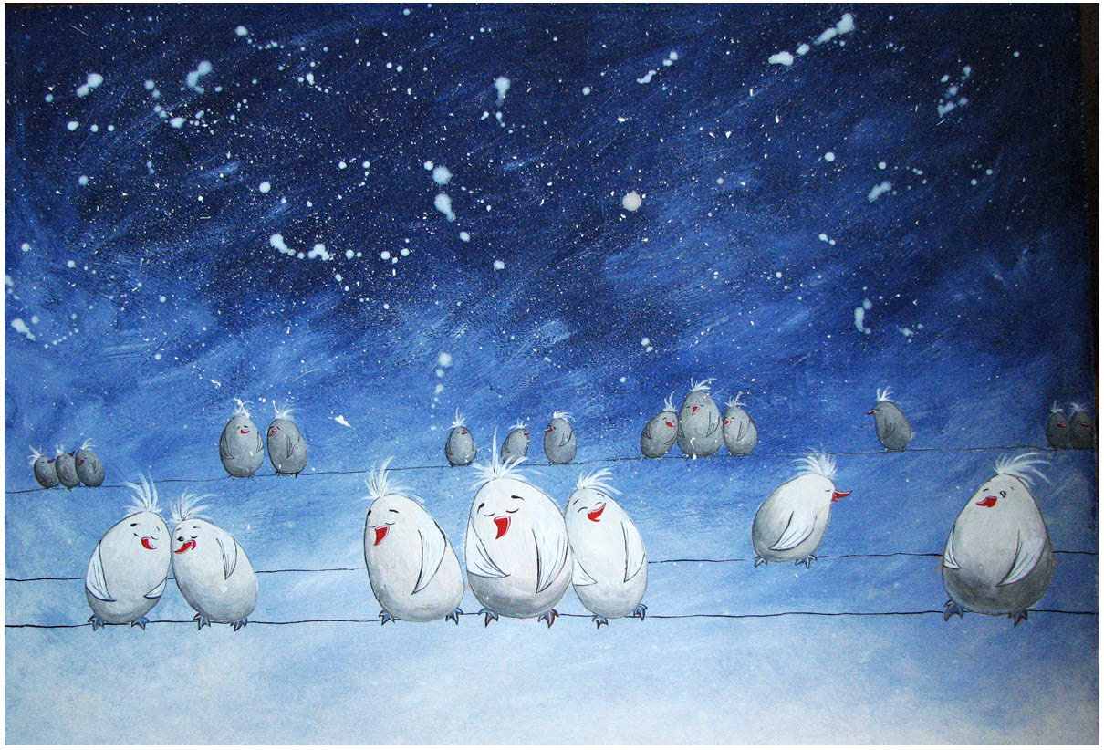 snowbirds asleep by Adnil