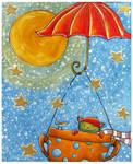 across the starry sky by Adnil