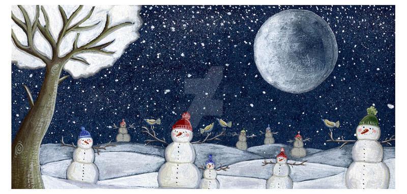 snowmen by Adnil