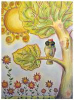 Spring Owl by Adnil