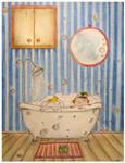 Annie in a bath