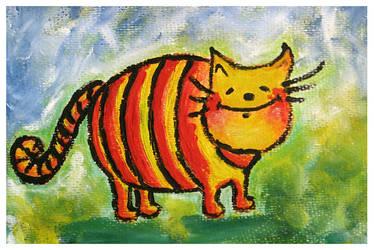 happyness is a warm fuzzy cat by Adnil