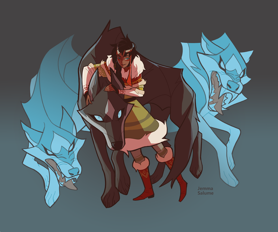 Ashol and the Wolves by oxboxer