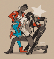Cap Squad by oxboxer