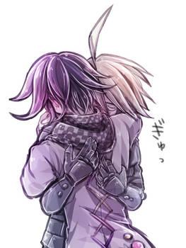 Ouma and Ki-bo Hug by riyuta