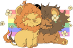 gay lions for pride month