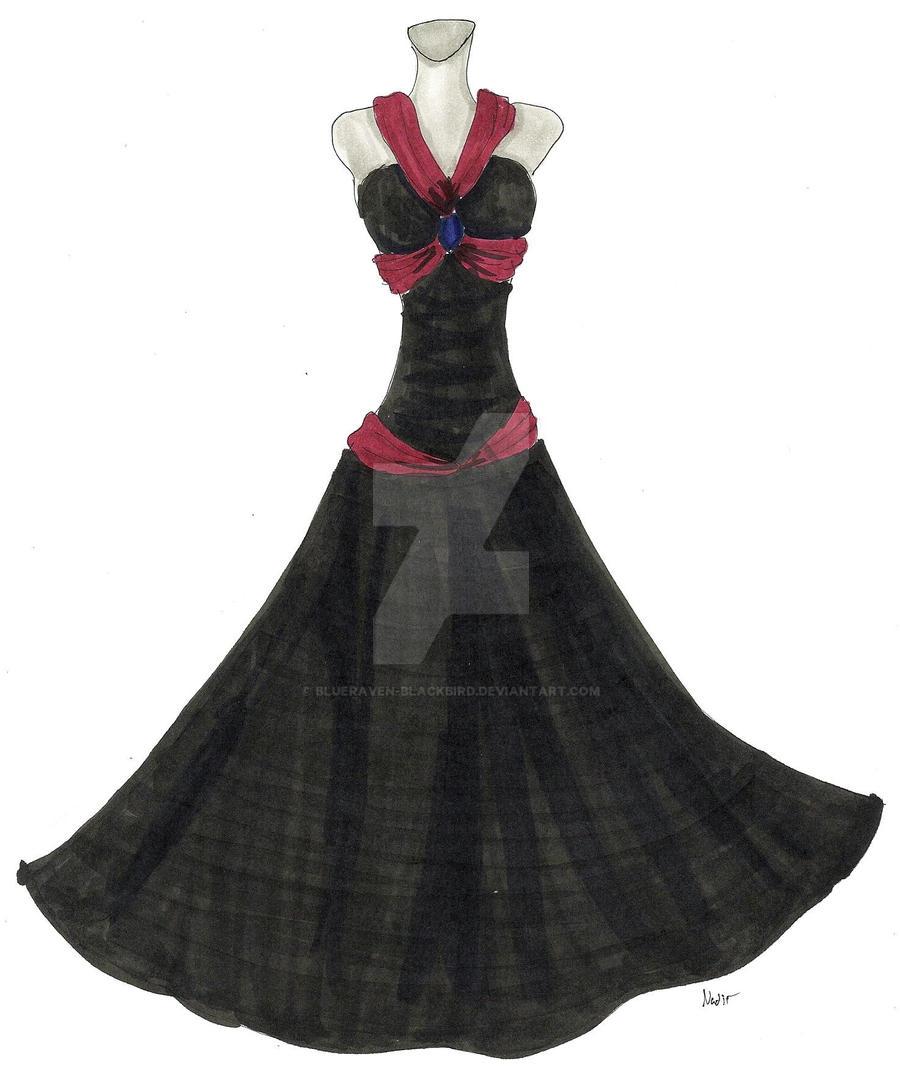 dress design: midnight by Blueraven-blackbird