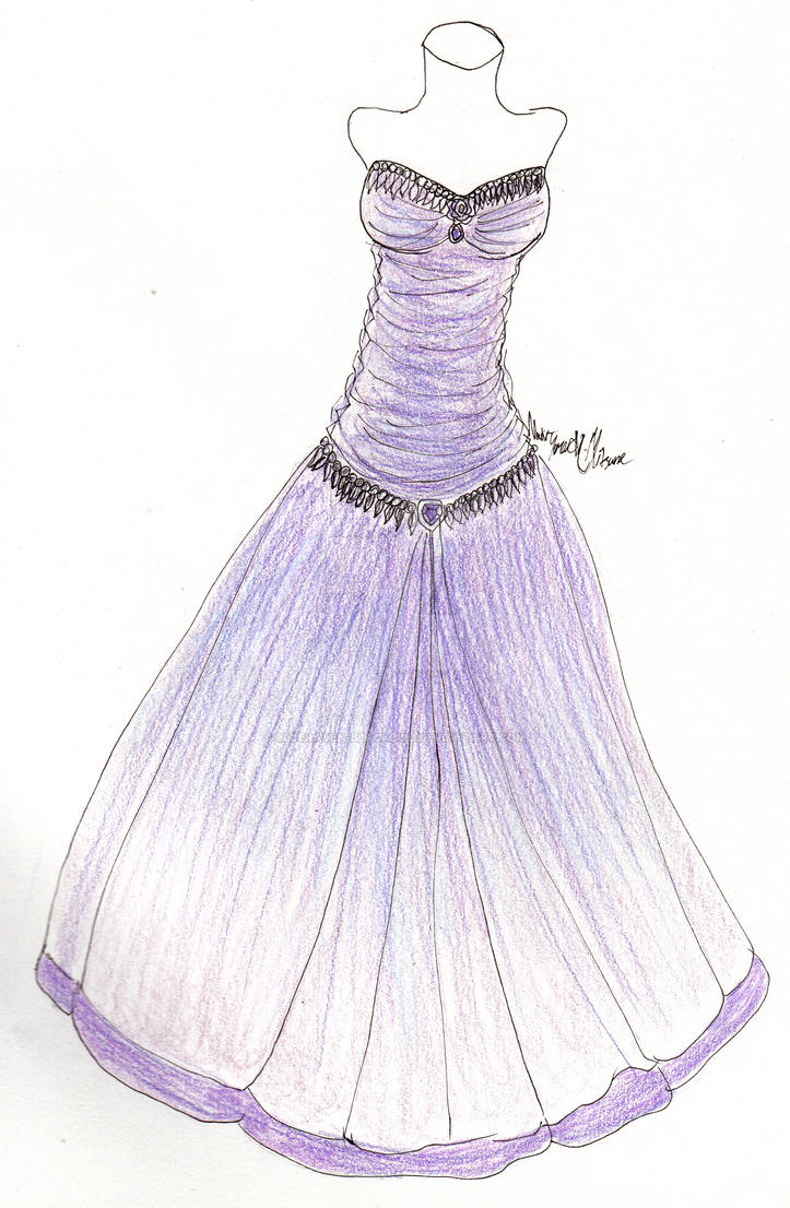 Purple wedding dress by Blueraven-blackbird