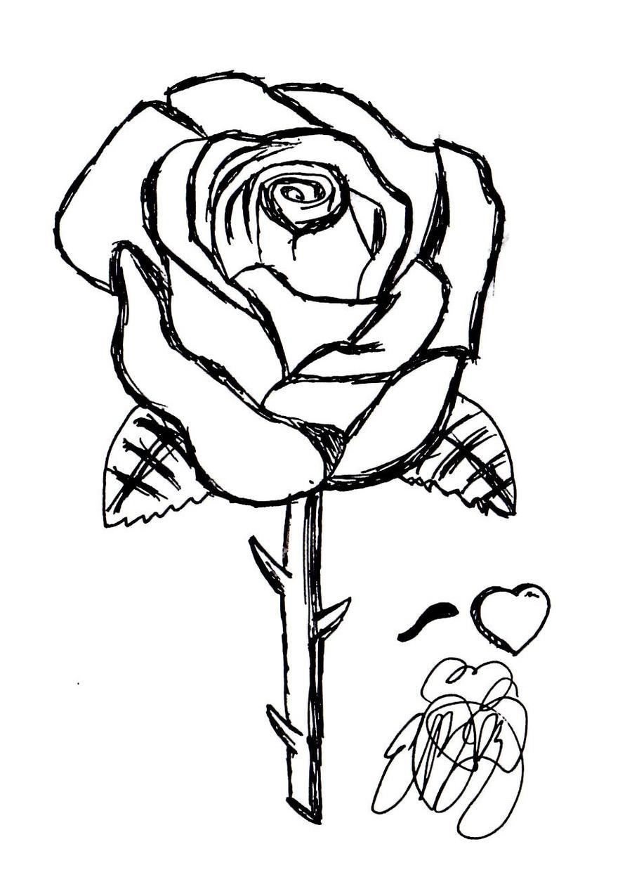 Disegni tatuaggi tattoo da colorare e stampare for Colorare le rose