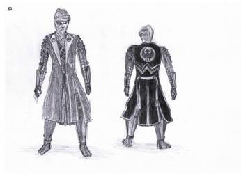 Armor Study  Yatagerasu Set Nioh by TheMasterofSuicide