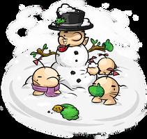 Saturn Snowman by Mutoh