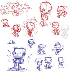 Robot Sketches by Mutoh