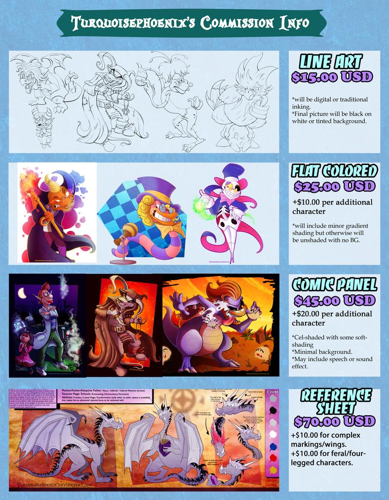 Turquoisephoenix's Commission Info (2014) by Turquoisephoenix