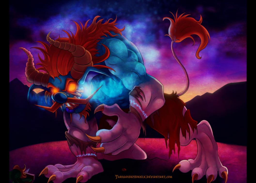 LOZ:ST - Demon Lord Malladus by Turquoisephoenix