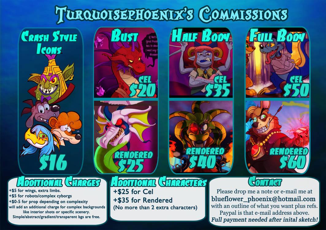 Turquoisephoenix's Commission Info (2020)