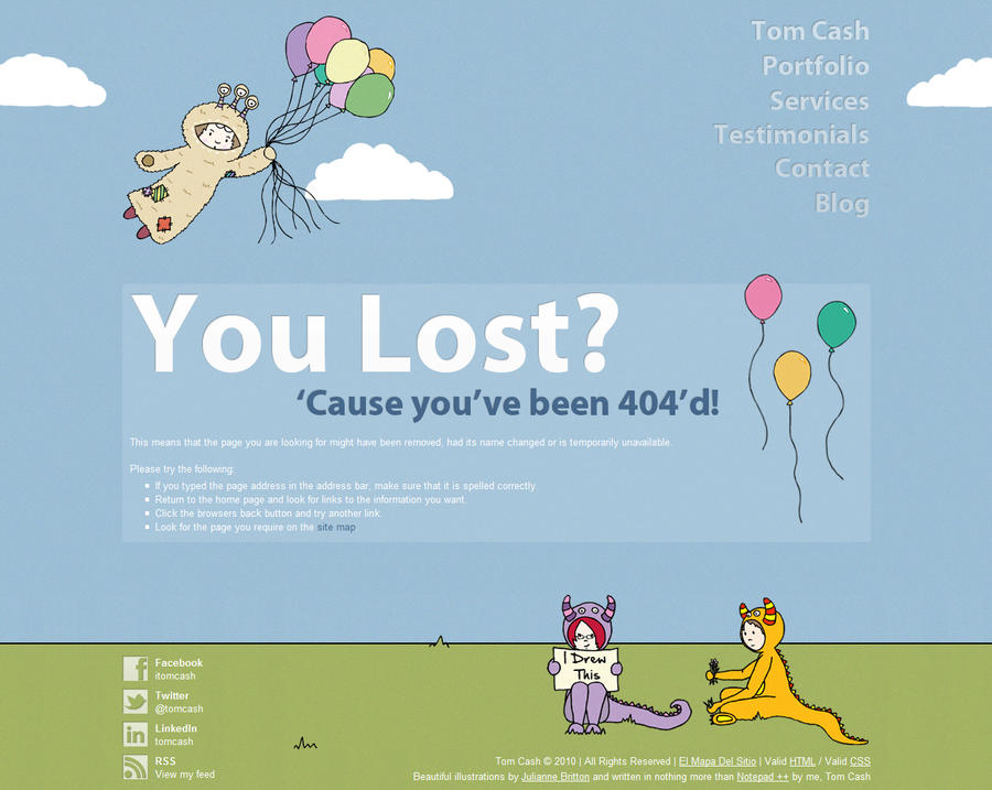 Tom Cash Error 404 Page by TomCash