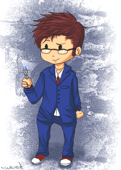 Chibi Tenth Doctor by mis-matching