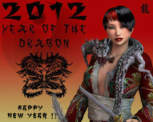 Year of the Dragon -- Happy New Year by Mild2Wild-Studios