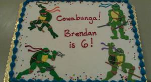 Ninja Turtle Cake by ayarel