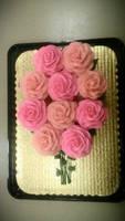 Pink Rose Bouquet Cupcake Cake by ayarel