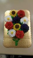 Bold Bouquet Cupcake Cake by ayarel