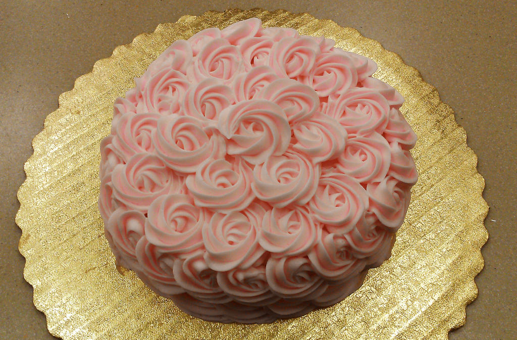 Pink Rose Cake by ayarel