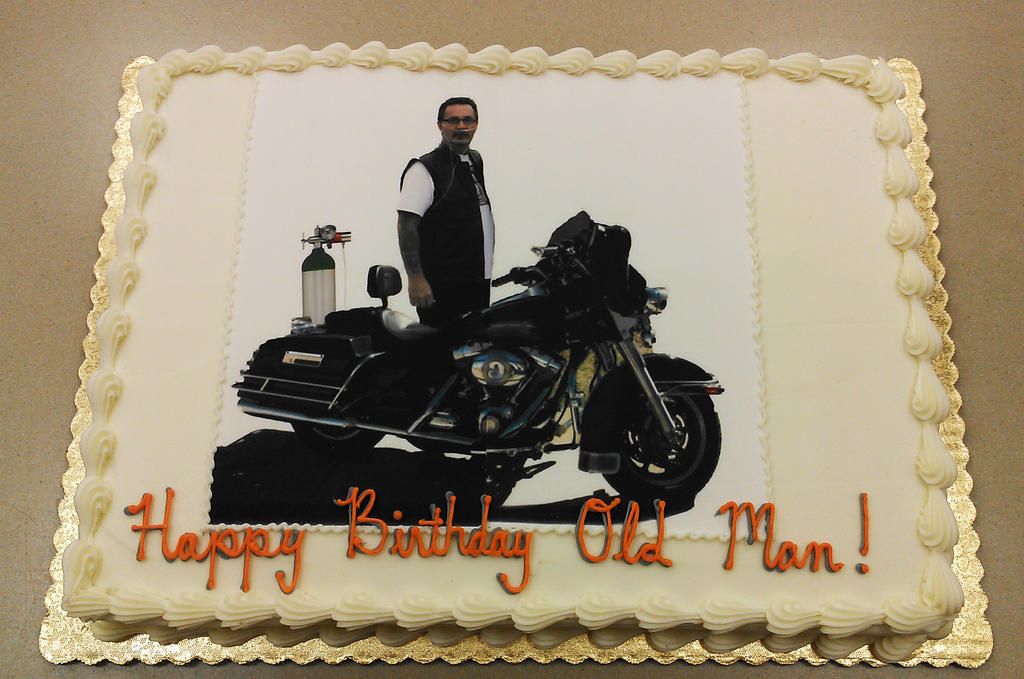 Harley Davidson 50th birthday cake by ayarel on DeviantArt