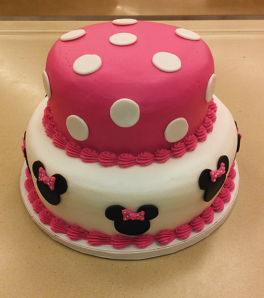 Cake Designs With Polka Dots : Minnie Mouse pink polka dot cake by ayarel on DeviantArt