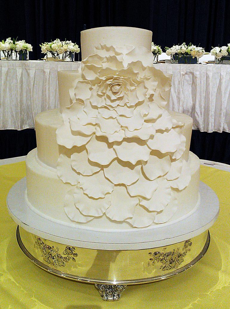 Flower Petals Wedding Cake By Ayarel On DeviantArt