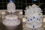 rhapsody of blue wedding cake