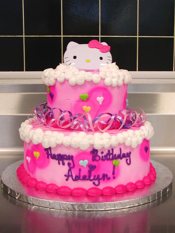 Birthday Cake Pictures Hello Kitty : Hello Kitty birthday cake by ayarel on DeviantArt
