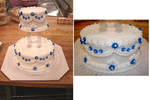 Simple Blue Wedding Cake