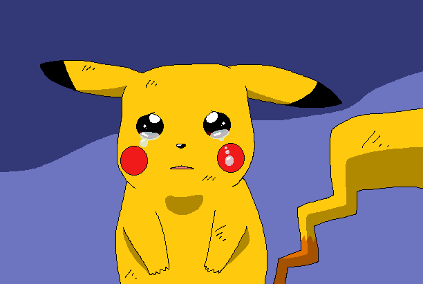 Pikachu crying drawing - photo#28