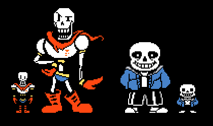 Sans And Papyrus Colored Sprites By Zorathetwilightdrake On Deviantart