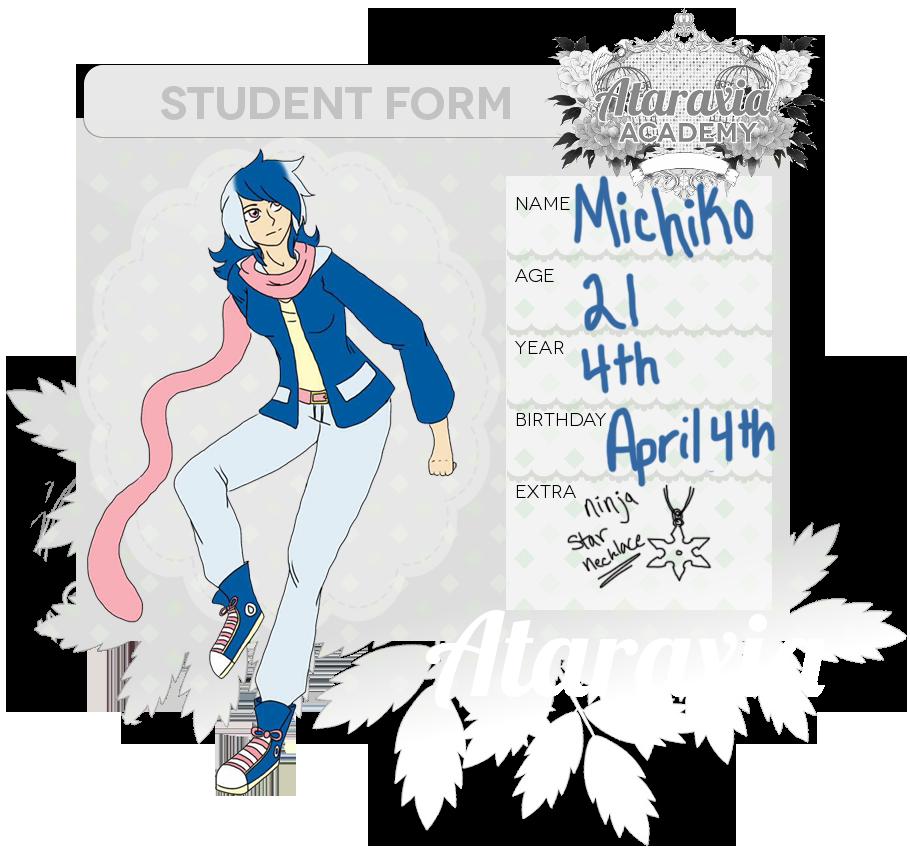 Michiko Ataraxia Academy App by MorbidHorrors