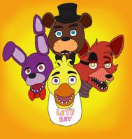 Freddy Fazbear and Gang by MorbidHorrors