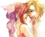 FF7 Cloud and Aerith