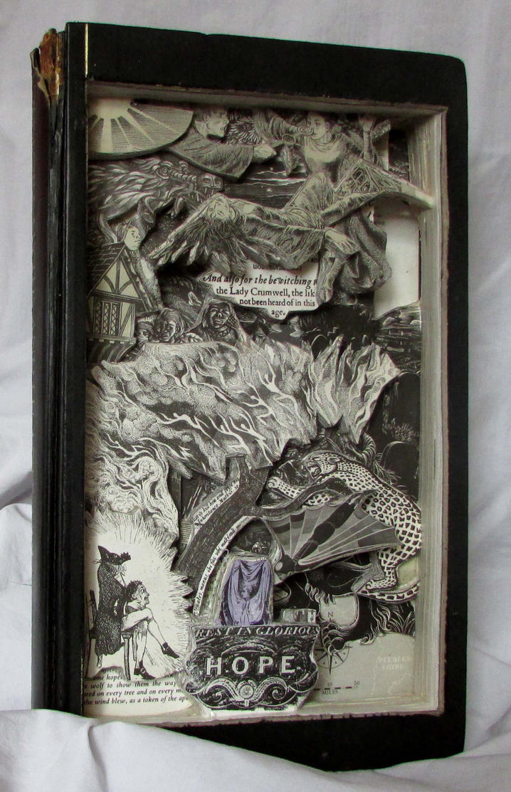 Book Sculpture/art, folklore myths and legends by silverscape
