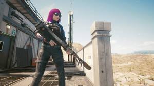 V with Overwatch Sniper - Cyberpunk 2077