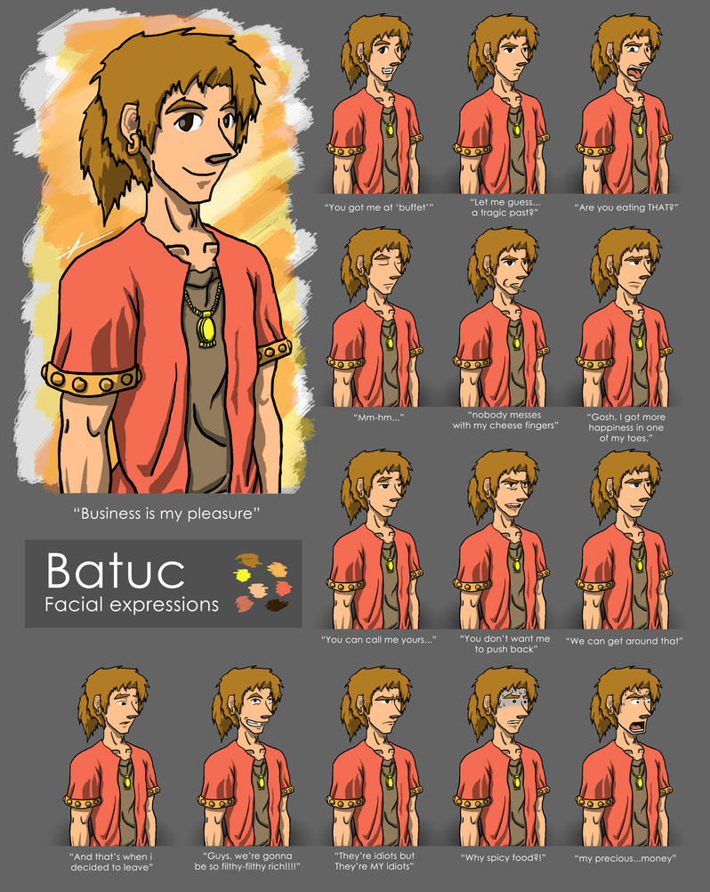 Batuc - Facial Expressions by Phatom-Caster