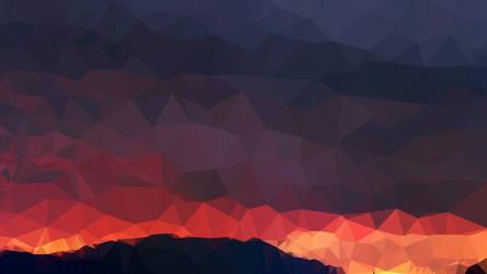 Triangular sunset by MrAniol