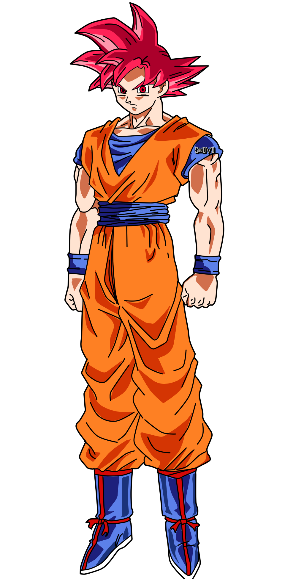 Goku SSJ God Render by SaoDVD