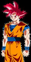 Goku SSJ God Render/ Remake by SaoDVD