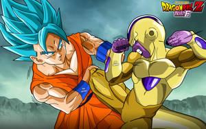 Goku SsGss Vs Golden Freezer by SaoDVD