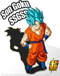 Goku SSGSS Poster 1