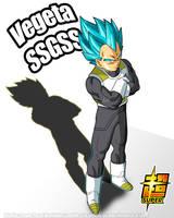 Vegeta SSGSS Poster 1 by SaoDVD